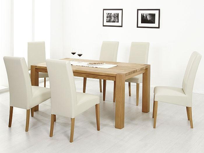 Beige Stühle polsterstuhl robin eiche natur elektra beige kunstleder stuhl
